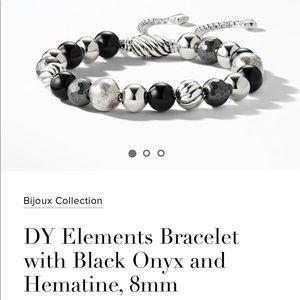 David Yurman Bracelet with Black Onyx and Hematine